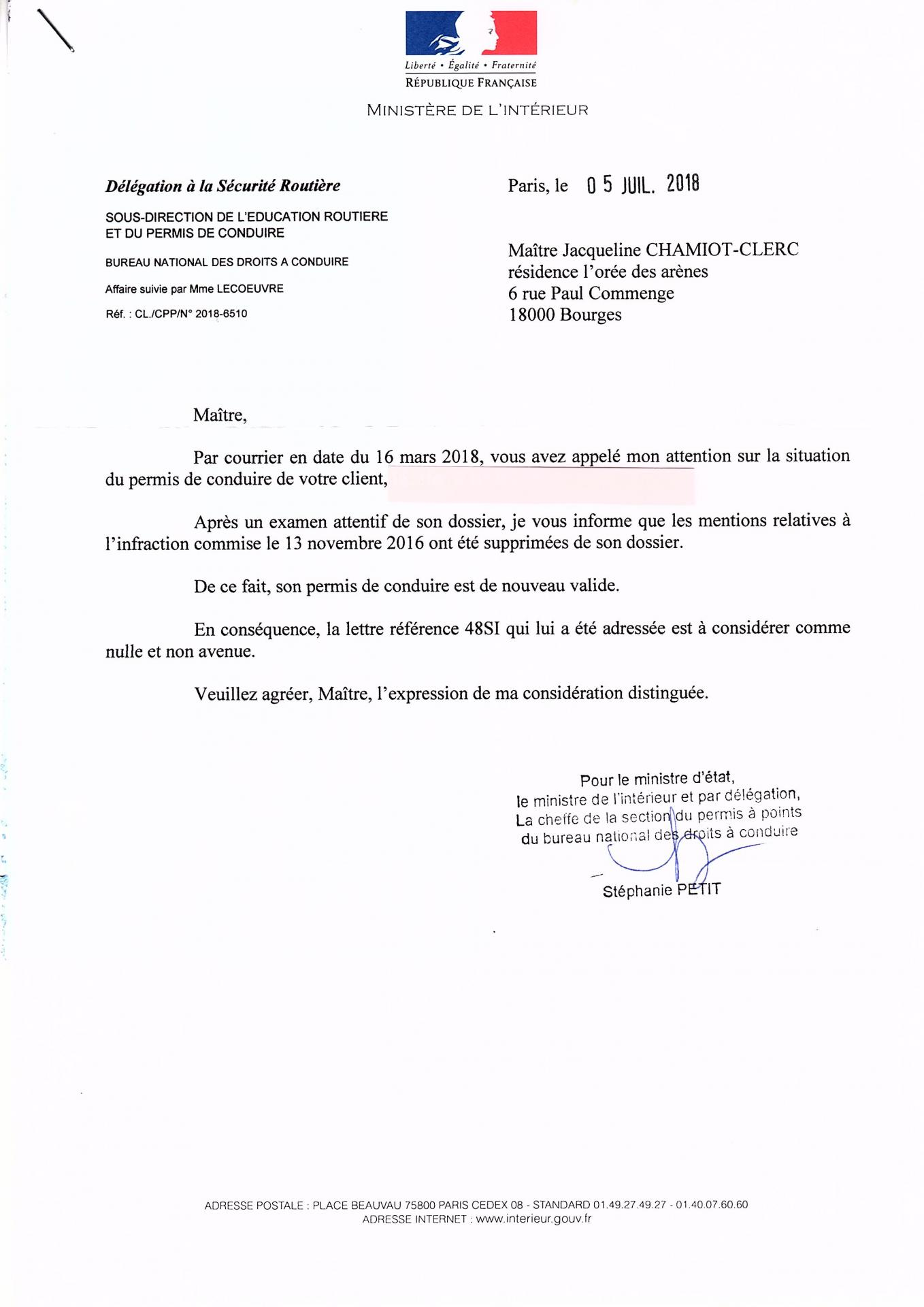 Courrier ministere de l interieur 05072018